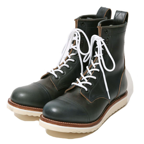 RG BLACK REBEL /REBELS LACE UP BOOTS -(NAVY/GREEN)