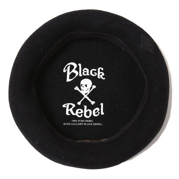 RG BLACK REBEL / REBELS BIG BERET (BK)