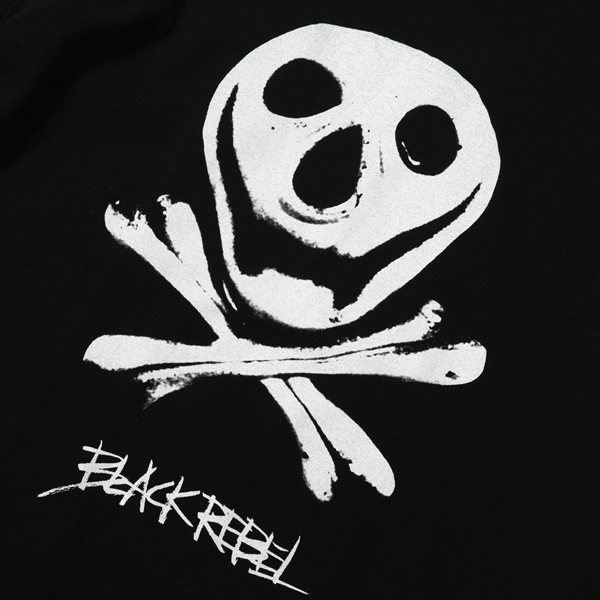 RG BLACK REBEL / MUNCH SKULL TEE (BK)
