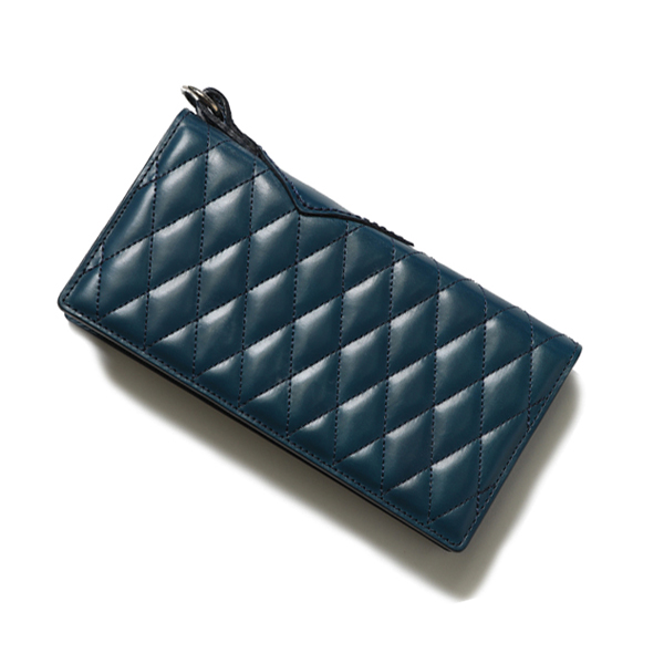 RG BLACK REBEL /OUTSIDERS DIA QUILTED LEATHER WALLET(TURQUOISE)