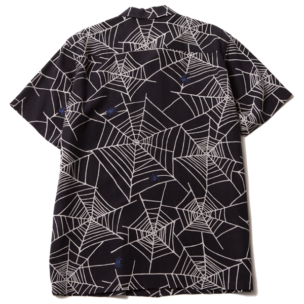 RG BLACK REBEL / SPIDER NET ALOHA SHIRT (BK) - ウインドウを閉じる
