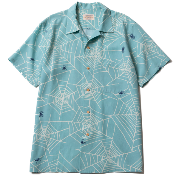 RG BLACK REBEL / SPIDER NET ALOHA SHIRT (MINT)