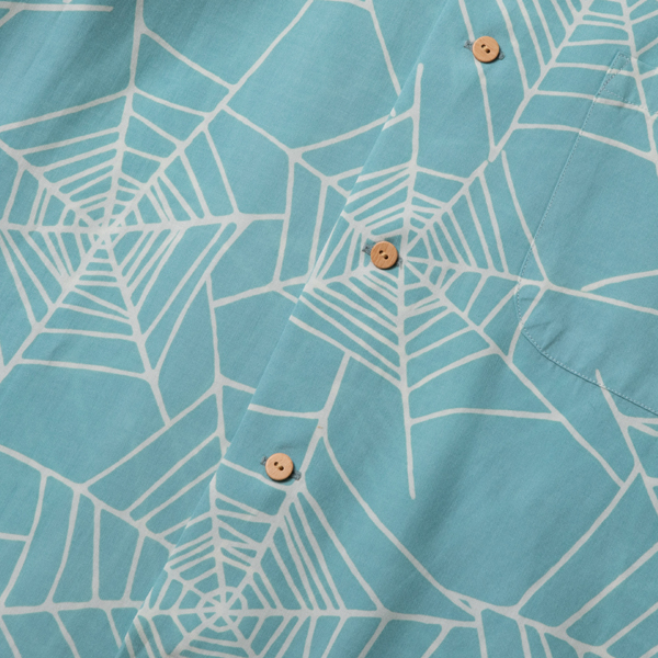 RG BLACK REBEL / SPIDER NET ALOHA SHIRT (MINT) - ウインドウを閉じる