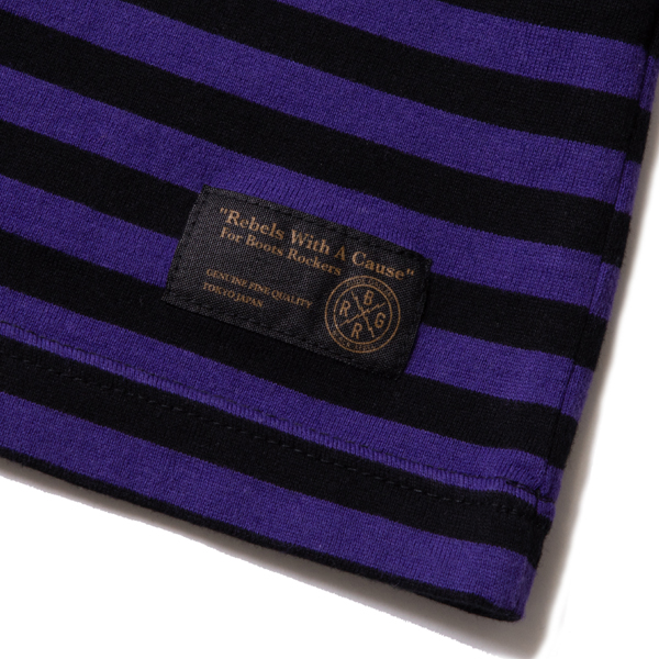 RG BLACK REBEL / BORDER THREE - QUARTER SLEEVE (PURPLE/BK)