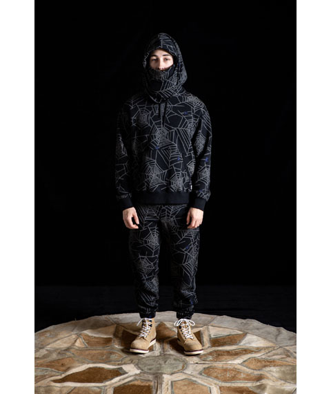RG BLACK REBEL / SPIDER NET SWEAT PARKA (BK)