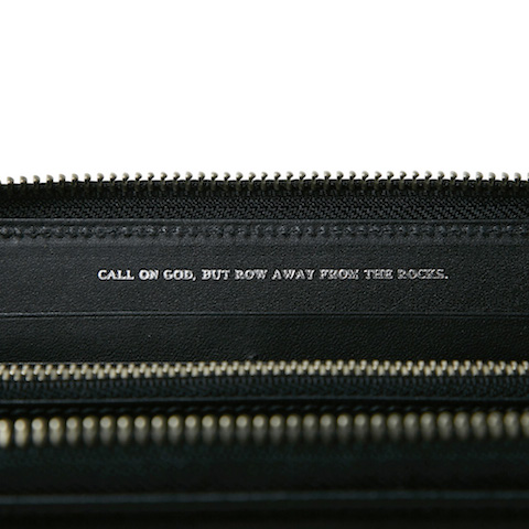 CRIMIE / LEATHER ZIP WALLET