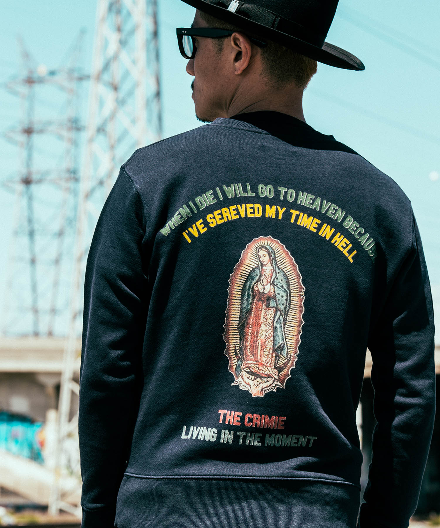 CRIMIE / GUADALUPE CREW NECK SWEAT SHIRT (BK)