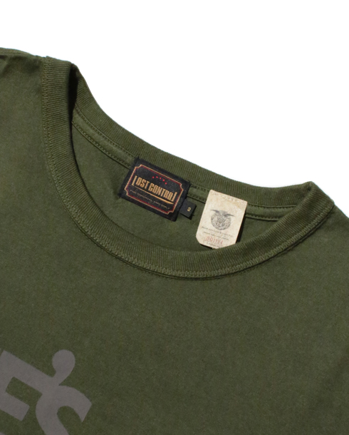 LOST CONTROL / Graphic TEE -lost- (IVY GREEN)
