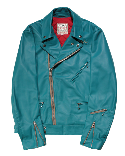 Lewis Leathers / T.F 441 CYCLONE HORSE HIDE (Turquoise)