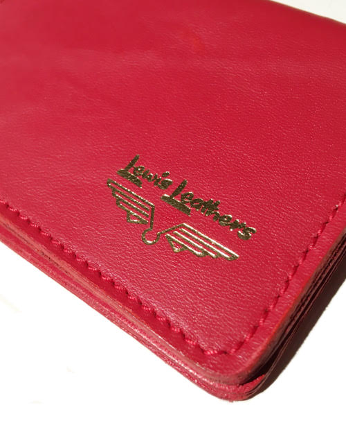 Lewis Leathers / CARD CASE (RED)