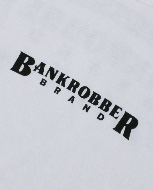 BANKROBBER /CREW NECK TEE -DESIGN BY NUTS ART WORKS (WH)