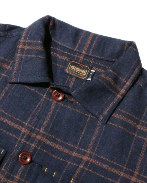 LOST CONTROL / UTILITY CHECK SHIRTS (NAVY)