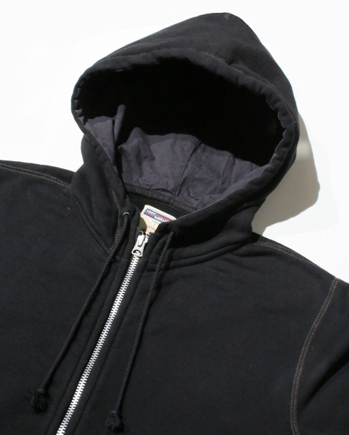 LOST CONTROL / ZIP-UP SWEAT PARKA (BK)