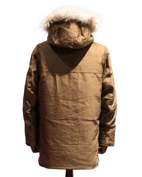 LOST CONTROL / SIBERIAN FUR DOWN COAT (KHAKI BROWN)