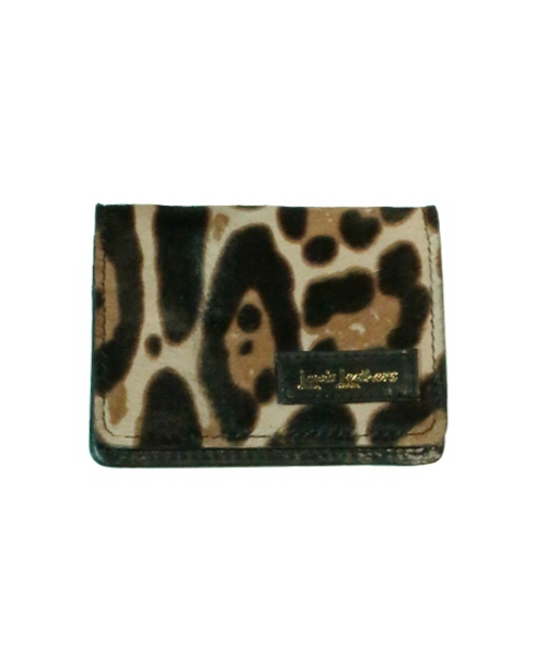 Lewis Leathers / CARD CASE (LEOPARD)
