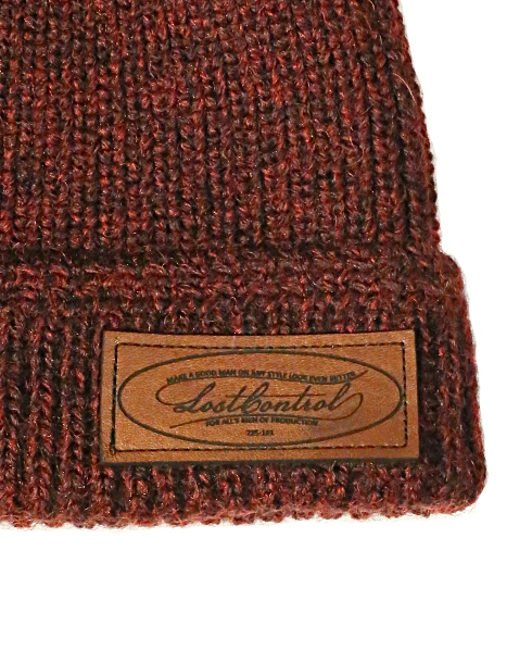 LOST CONTROL / WATCH KNIT CAP -PLAIN (RED)
