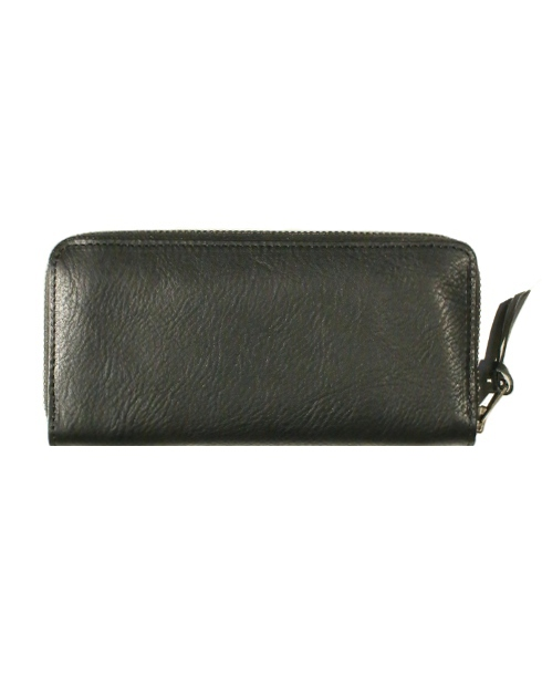 Riff Raff / LEATHER WALLET -MIDDLE- (BK/BK)