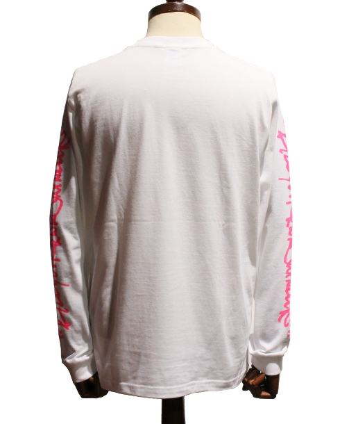 チバユウスケ × HABANA LONG SLEEVE TEE (WH/PINK)
