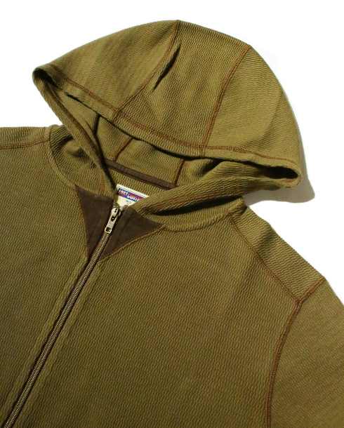 LOST CONTROL / HOODED ZIP THERMAL (MOSS GREEN)