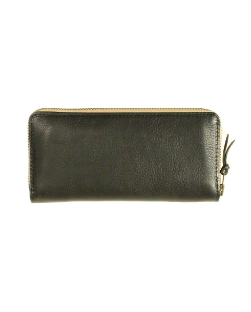 Riff Raff / LEATHER WALLET -MIDDLE- (BK/BEIGE)