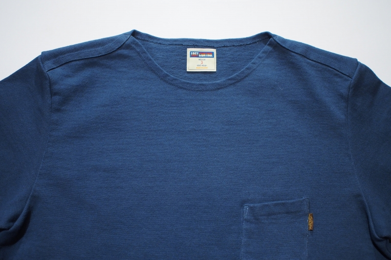 LOST CONTROL / FLAT NECK HEAVY 3Q TEE (BLUE)