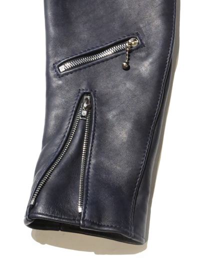 Lewis Leathers / 441T CYCLONE (Tight Fit) SHEEP SKIN (NAVY)