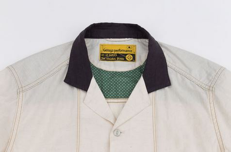 GERUGA / OPEN COLLAR SHIRTS-DOT INSIDE(ECUR)