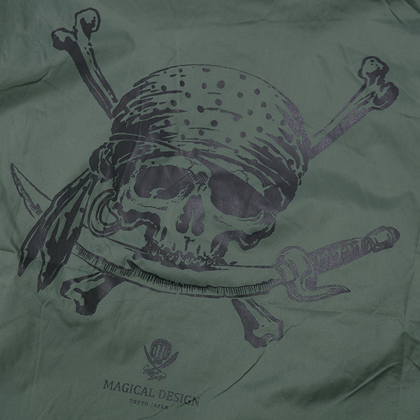 MAGICAL DESIGN / PIRATES-SKULL CORCH JACKET (GREEN)