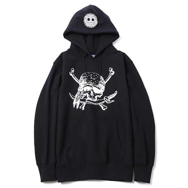 MAGICAL DESIGN / PIRATES-SKULL HOOD SW (BK)
