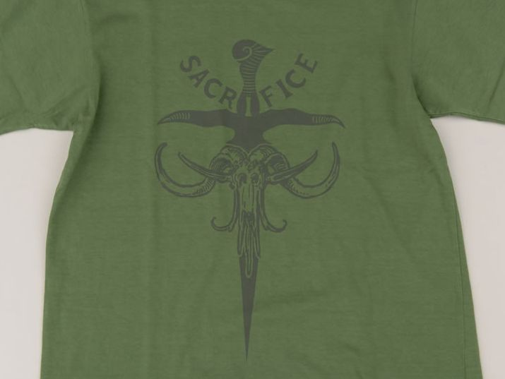 GERUGA / PRINT T-S -SACRIFICE- (OLD GREEN)