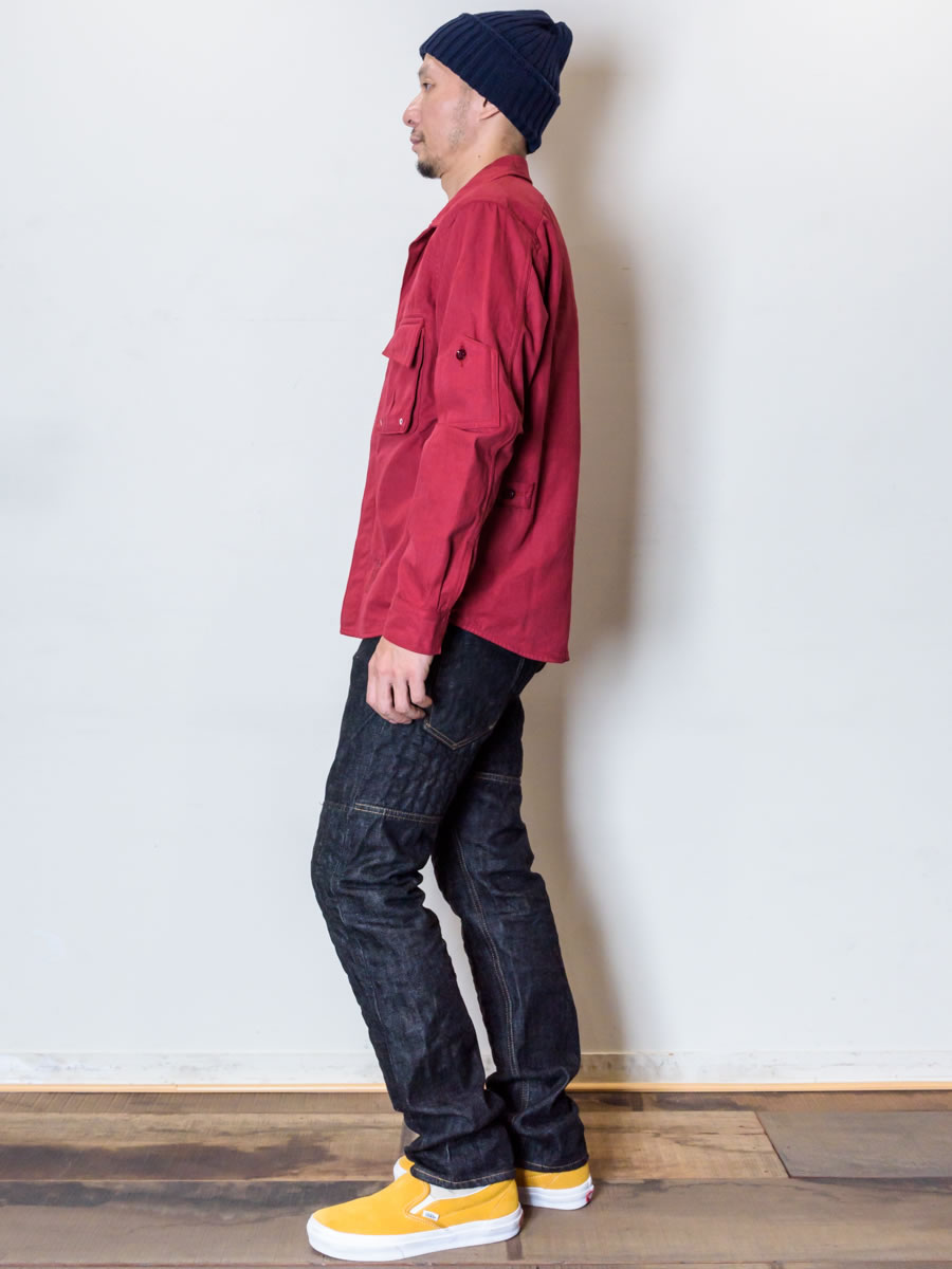 GERUGA / MILITALY WORK SHIRTS (DARK-RED) - ウインドウを閉じる
