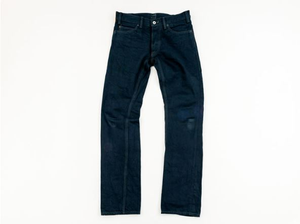 GERUGA /TIGHT-STRAIGHT DENIM PANTS-RIGID (BK/BK)