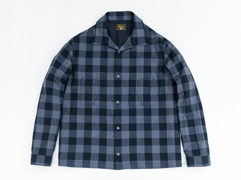 GERUGA / JET BLACK CHECK SHIRTS (GRY)