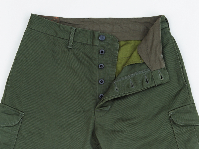 GERUGA / SLEEK CARGO HARF PANTS (OLIVE)