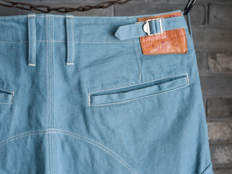 GERUGA /HIDDEN POCKET PANTS -DENIM- (SAX BLUE)