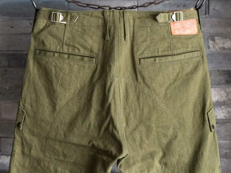 GERUGA /HIDDEN POCKET PANTS -DENIM- (OLIVE)