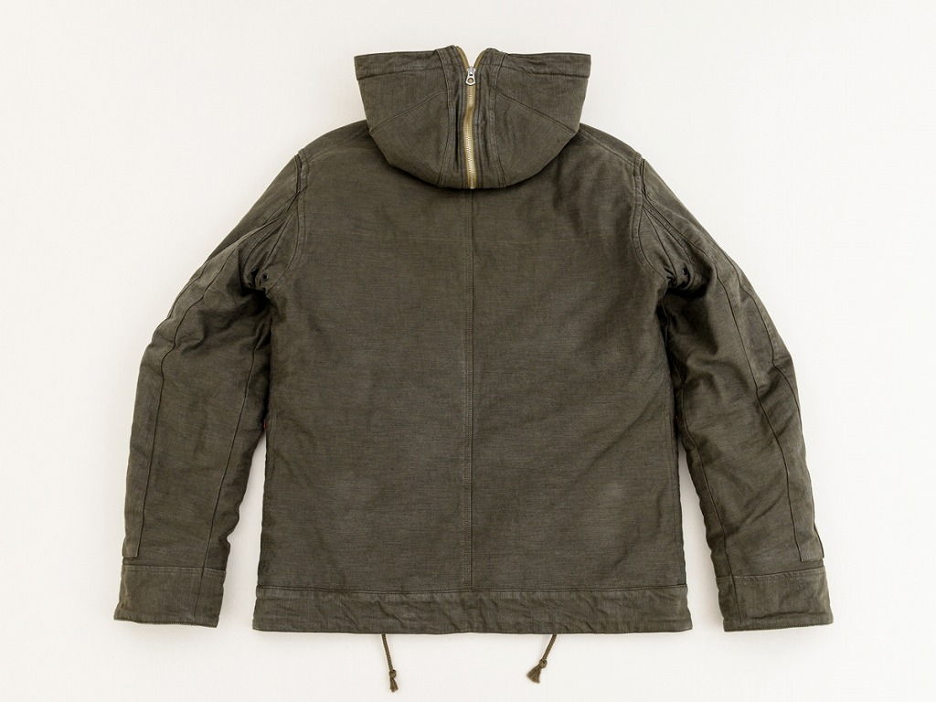 GERUGA / HOODED ZIP PARKA (OLIVE)