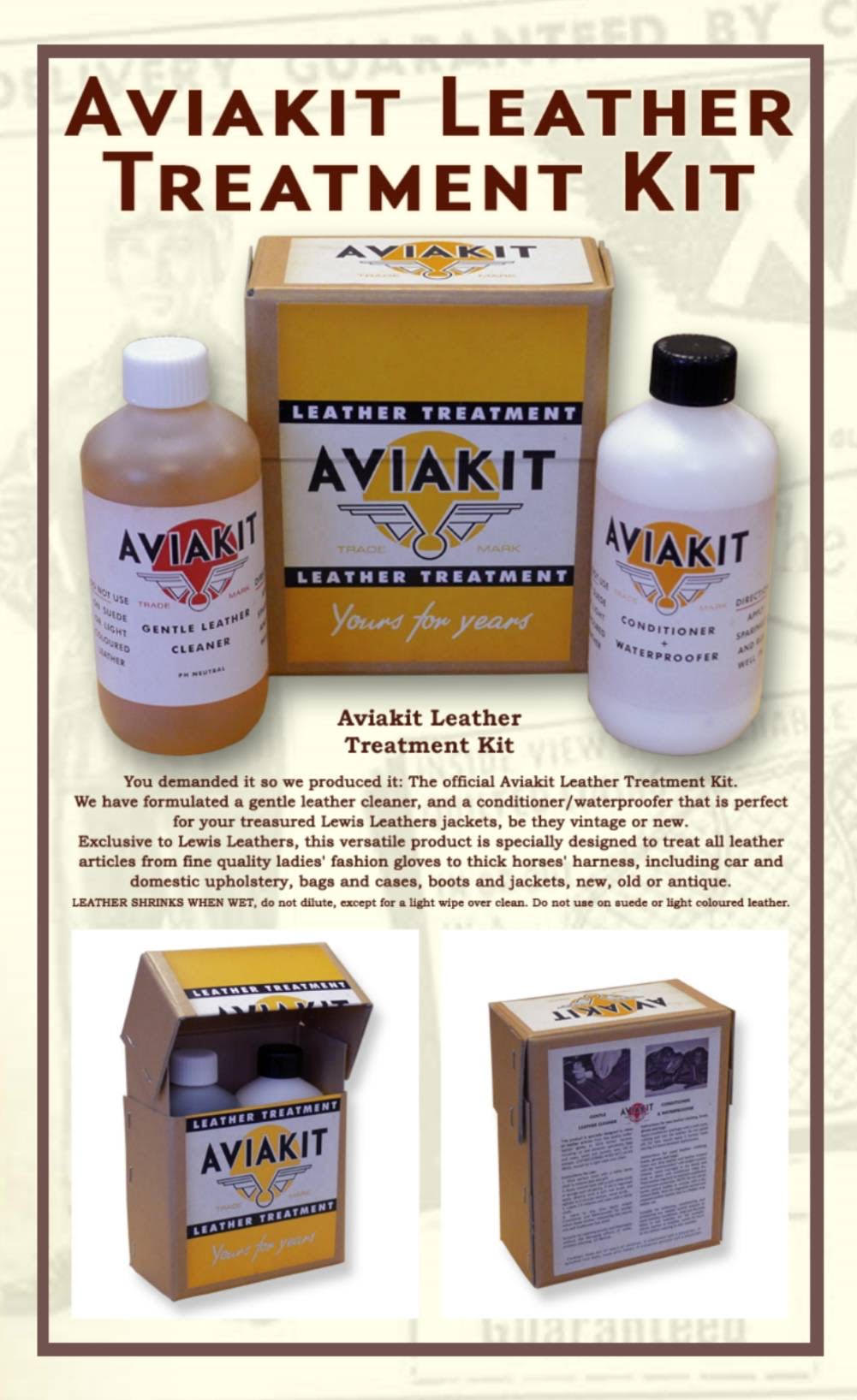 Lewis Leathers / AVIAKIT Leather Treatment Kit