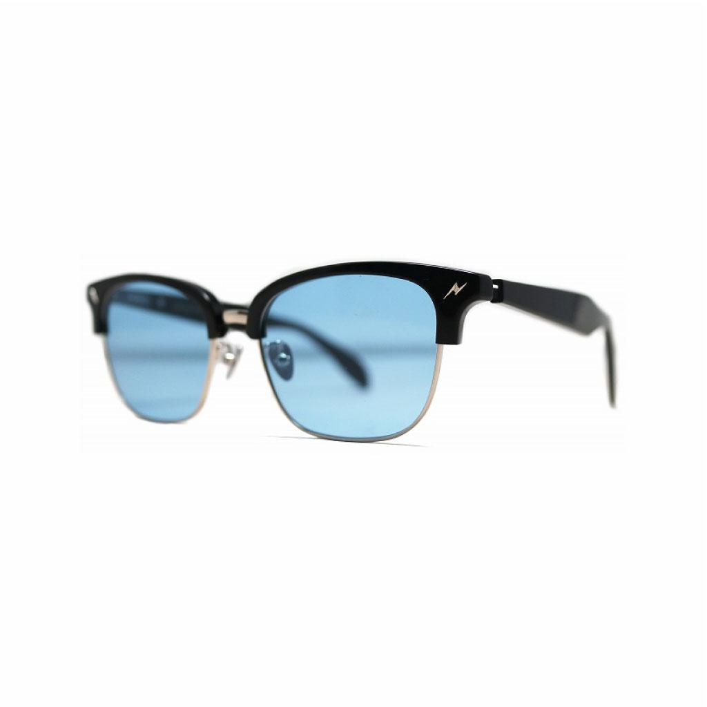 Mr. CASANOVA / STOMP 2nd (Black×Silver / Blue Lens)